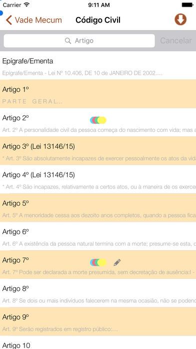 Vade Mecum Free Direito Brasil iPhone Screenshot 2