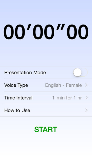Voice Over Stopwatch