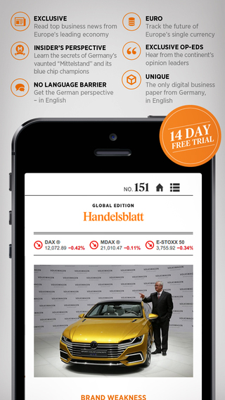 Handelsblatt Global Edition - European News in Economy Finance and Politics