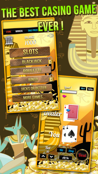Blackjack Valley of The Kings : Treasure of Ramesses with Slots Poker and More