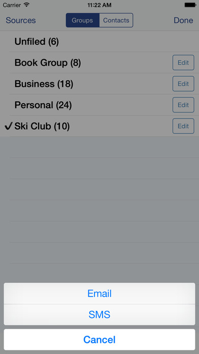 Speed Names: Contacts, Groups, Email & SMS iPhone Screenshot 4