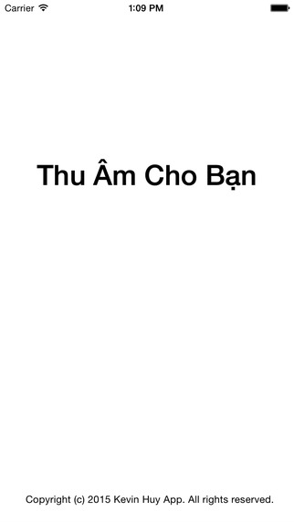 Thu am cho ban