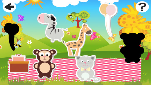 Awesome Babies Animals: Shadow Game to Play and Learn for Children