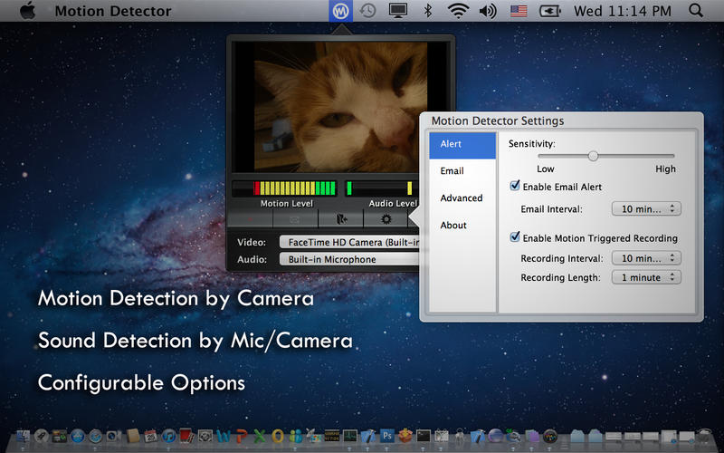 Motion Detector for Mac