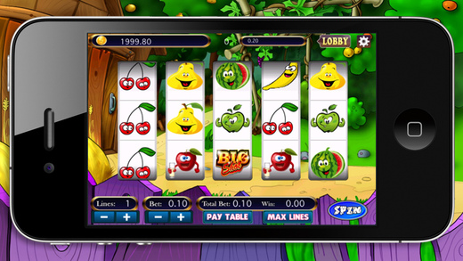 Cute Fruits Slots Machine