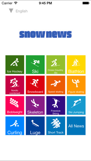 Snow News former Sochi News - The App About Winter Ski Sports Games 2014 2015