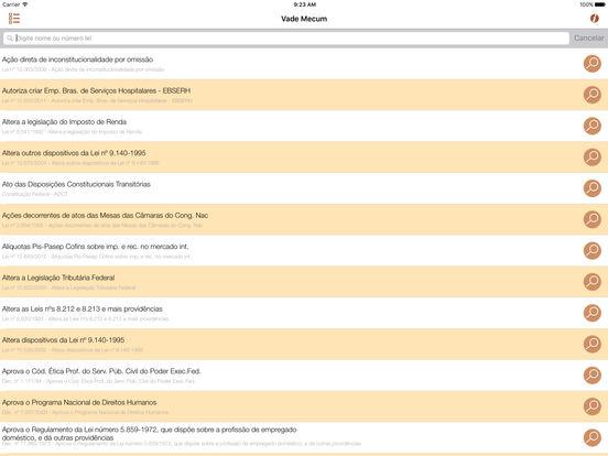 Vade Mecum Free Direito Brasil iPad Screenshot 1