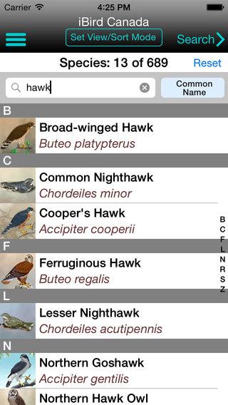 iBird Canada Guide to Birds