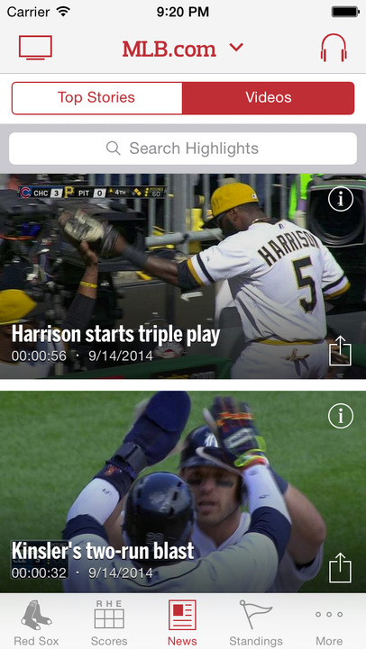 MLB.com At Bat - iPhone Mobile Analytics and App Store Data