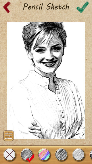 Pencil Sketch - My Pic Portrait with Color Filter Effects