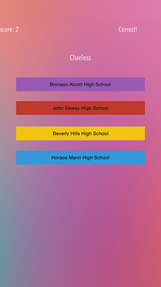 Match The Movie To The High School - Fun Trivia Game