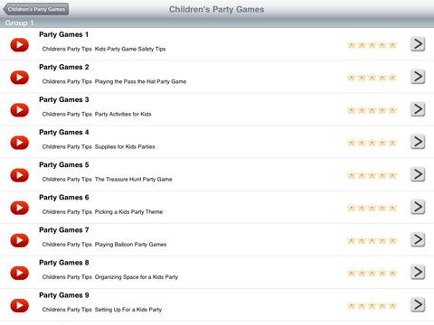 Children's Party Games iPad Screenshot 2