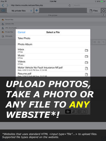 iUploader Pro™ - Uploads files to websites and document manager Screenshots