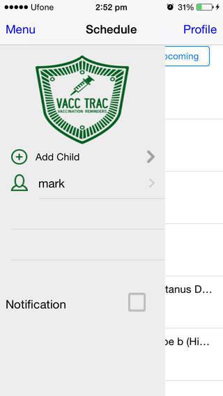 Child vacccination tracker