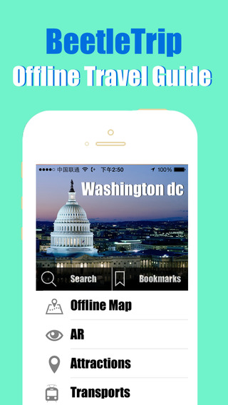 Washington DC travel guide and offline city map Beetletrip Augmented Reality Washington D.C. Metro T