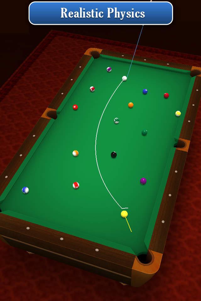 Pool Break 是一套具有几种3D撞球,台球,斯诺克,流行的斗球盘和卡罗姆棋盘游戏变体的一套游戏。这些3D图像是壮观的和这些物理效果是现实的和准确的。无论你与计算机对战或与其他玩家玩线上对战,动作都是流畅和节奏都是快速的! Pool Break 具有大量的游戏以及许多快节奏的动作,它将让最老练的职业玩家玩到深夜。其逼真的3D图像和直线开枪导轨帮你为你的下一步行动对齐击球。 Pool Break 游戏包括: 台球8号球(美国) 台球9号球 台球6号球 台球10号球 台球3号球 台球7号球