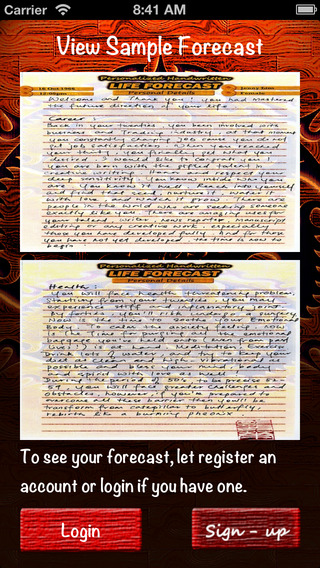 Personalized Handwritten Life Forecast
