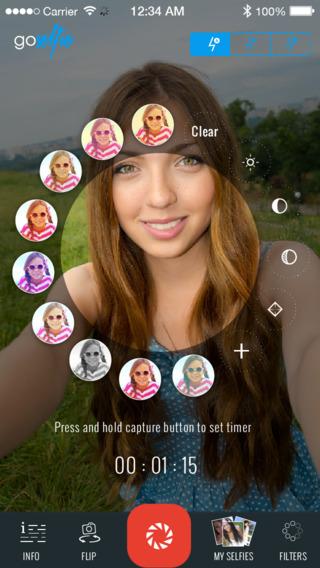 GoSelfie - capture stunning selfies on the go