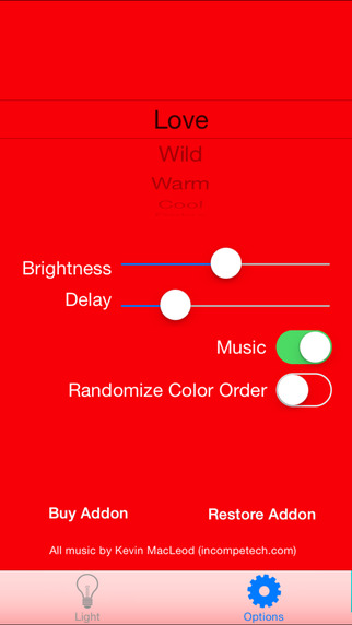 Sexy Romantic Mood Lighting for iPhone
