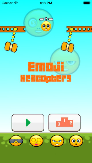 Emoji Helicopters Swing