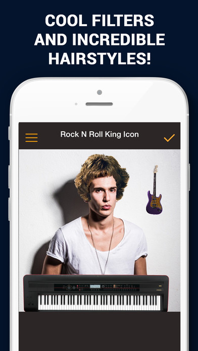 Rock N Roll King Icon - Photo Collage N Stickers Pro Screenshots