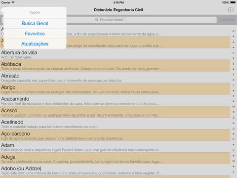 Dicionário Engenharia Civil iPad Screenshot 1