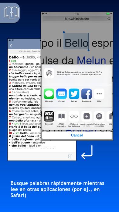 VOX Italian <-> Spanish Dictionary iPhone Screenshot 3