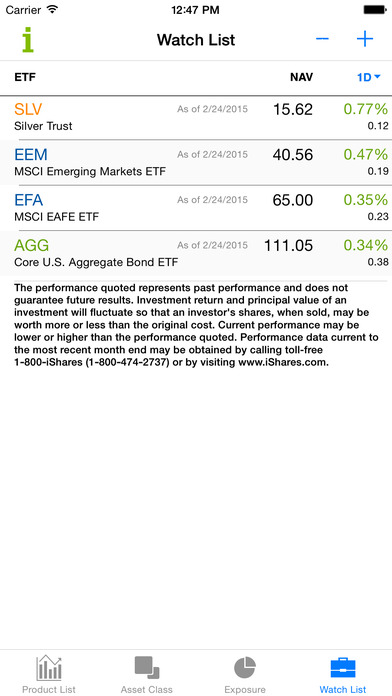 iShares ETFs iPhone Screenshot 4