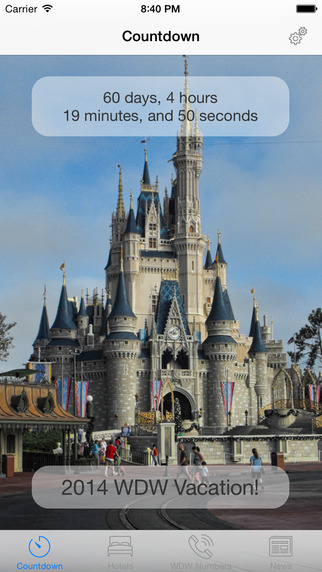 Vacation Countdown for Disney World
