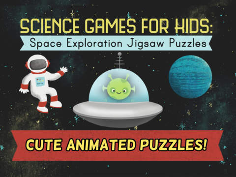 Science Games for Kids: Space Exploration Jigsaw Puzzles - School Activity for Cool Toddlers and Preschool Aged Children