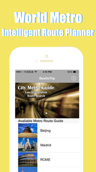 City Maps Offline - Metro Subway Tube Underground Train Transport Transit BeetleTrip Map and Route P