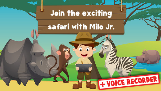 Milo's Mini Games for Tots Toddlers and Kids of age 3-6 - Safari wildlife and wild animals photo