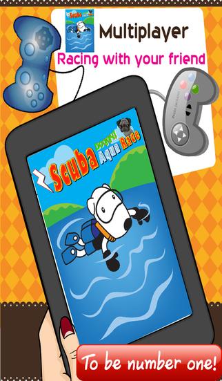 Scuba Doggy Aqua Race - Mega fun adventure divers game