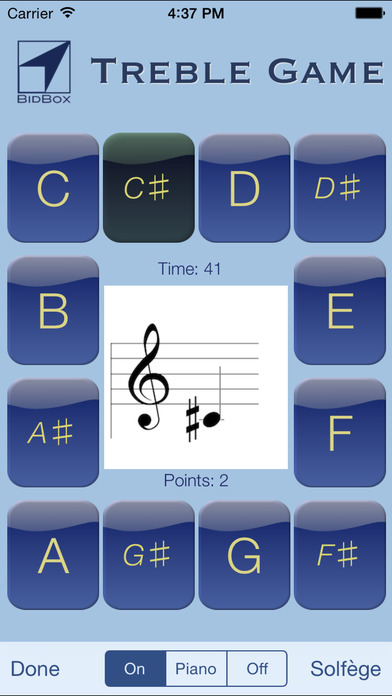 Sheet Music Treble Game iPhone Screenshot 2