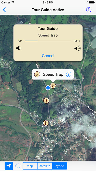 Kauai GPS Tour Guide iPhone Screenshot 2