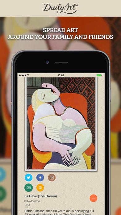 DailyArt Free - daily dose of fine art and art history screenshot