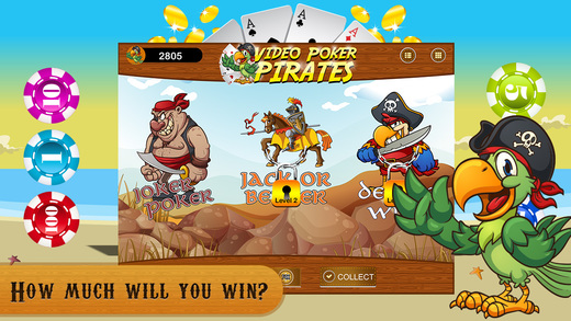 Video Poker FREE - Pirates Quest