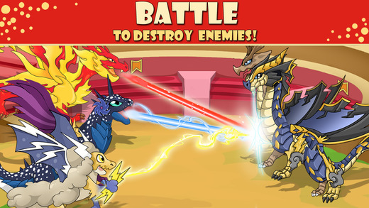 Dragon Village - Dragons Fighting Breeding City Builder
