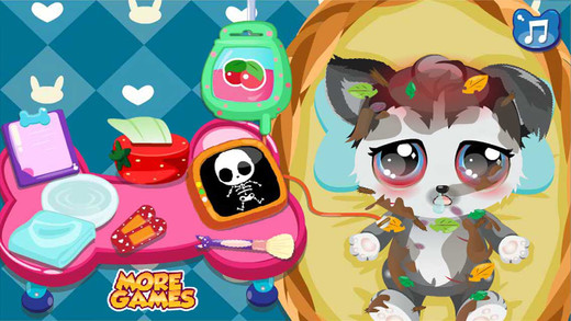 Pet Care Office - Treatment Clean up Dress up - Fun Pet Game