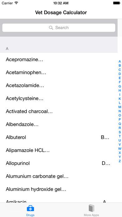 IVet Veterinary Dose Calculator iPhone Screenshot 1