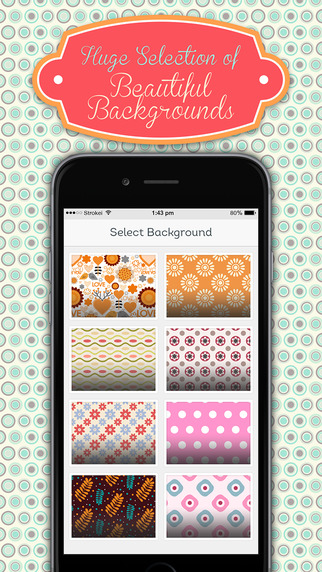 Monogram HD Wallpaper Creator for iOS 8