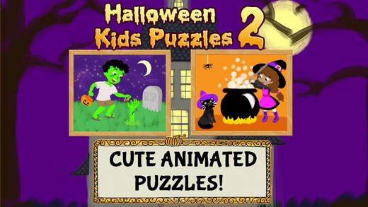Halloween Kids Puzzles 2: Ghost Zombie and Witch Games for Toddlers Boys and Girls - Education Editi