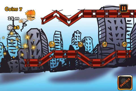 Doodle Man Run Pro screenshot 4