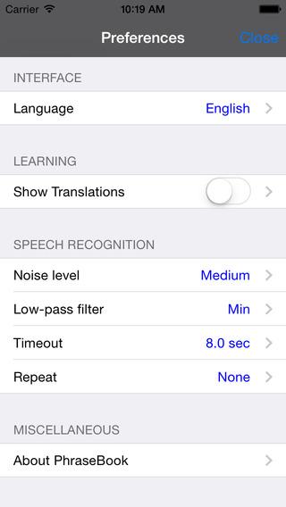 German-Italian Talking Travel Phrasebook iPhone Screenshot 4
