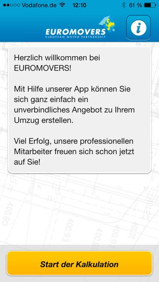 Euromovers-Umzugsrechner