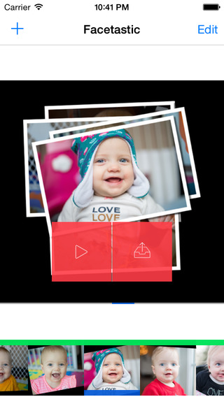 Facetastic - slideshow maker to create time-lapse movies by keeping face photos aligned during trans