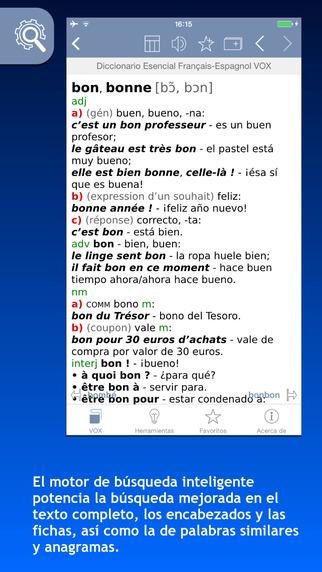 Diccionario Esencial Français-Espagnol Español-Francés VOX