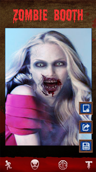 Zombie Booth - 3D Zombifier Face Makeup Halloween Photo Effects Editor