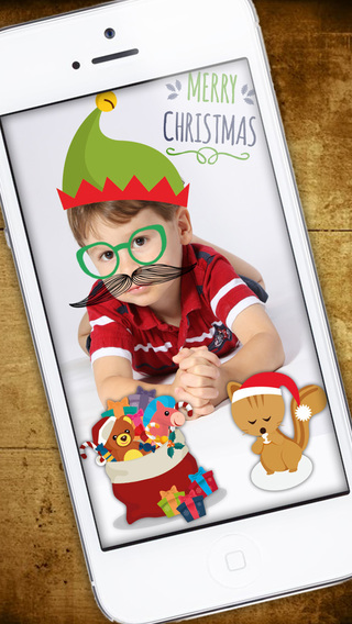Christmas Photo Stickers and adhesive Labels for children - PREMIUM