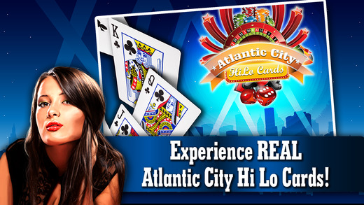 Atlantic City Hi-lo Cards PRO - Live Addicting High or Lower Card Casino Game